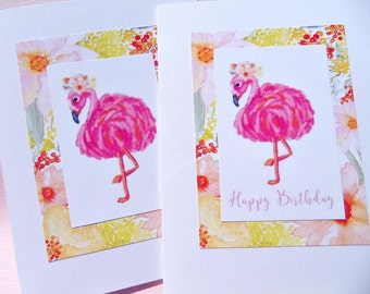 Pink Flamingo Cards - Bridal Shower Cards - Flamingo Note cards - Humorous Cards - Pink Flamingos Thank You Cards pf11
