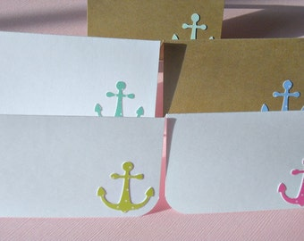 Baby Shower Place Cards - Baby Shower Decor - Anchor Place cards - Nautical Place Cards - Kraft Place Cards - Shower Decor  - WPC11