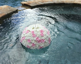 Wedding Pool Floating Pomander with Candle Set of 2