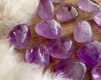 AMETHYST QUARTZ Polished Crystal Tumbled Metaphysical Stone