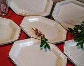 Pefect for Holiday Dining Footed Plates/Platters Set of Six