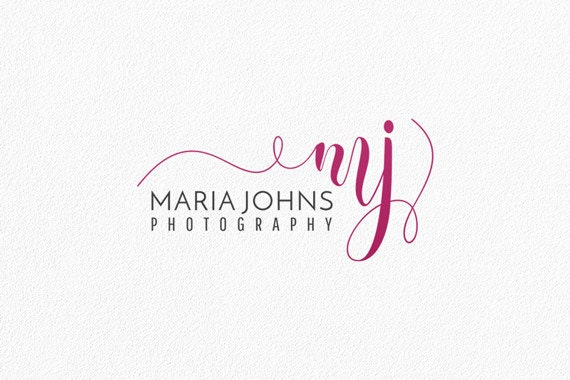 Initials logo calligraphy photography watermark