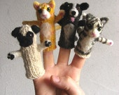 Puppet Kit Cats and Dogs Peace Fleece