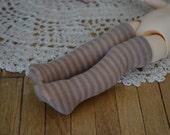 Tan Striped Stockings for Kikipop