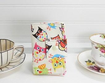 Owl Tea wallet - Teabag case for travel - Wallet for tea bags