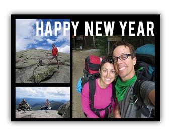 Bold New Year - Custom New Years Photo Card
