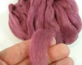Suri Alpaca Roving. Hand Dyed Raspberry, Silky Soft Roving, Superfine Suri Alpaca,   4.2oz listing