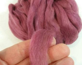 Suri Alpaca Roving. Hand Dyed Raspberry, Silky Soft Roving, Superfine Suri Alpaca,   4oz listing