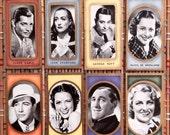 1938 Film Favourites:  British Tobacco Cards