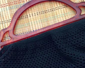 Vintage Rayon Crochet Purse Body, c 1930, R