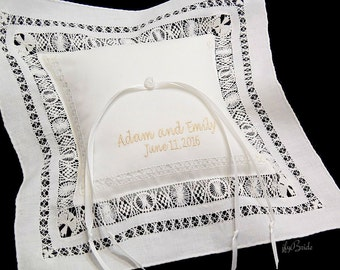 Ring Bearer Pillow Irish Linen, Style 3653