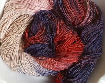 Mrs. Ross --Classic Sock-- Hand Painted Superwash Merino Wool/Nylon Sock Yarn