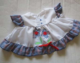 Vintage  Baby Infant Girl diaper Top Dress Size 6-9M?