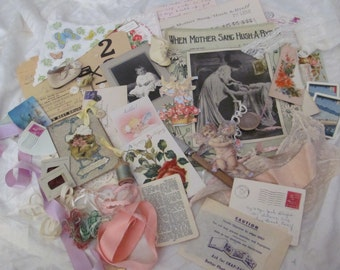 46 Piece Antique Inspiration Kit for Craft, Scrap Book or Mixed Media Projects (lot 6)