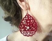 PDF Crochet Earrings Pattern, Pendant Necklace, DIY Earrings or Pendant, Drop Earrings, Charm Pendant