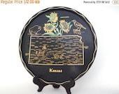 50% OFF Sale Wonderful Vintage 1950s 1960s Kansas State Souvenir Serving Tray