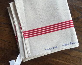 """French linen dish towel """"Fleur Bleue"""""""
