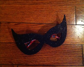 Purrrrfect CatVillain-style CHILD unMask™ Frames mask by LauriJon Studio City™