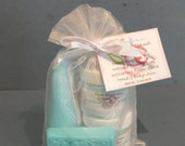 Texas Bluebonnet Gift Set - 1 bar of soap, 1 - 2oz. creamy whipped soap, 1 - 2 oz. sugar scrub and 1 - 2oz. hand and body lotion