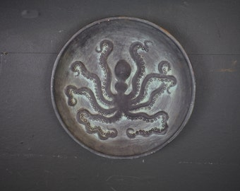 Octopus Pottery Plate / Wall Hanging