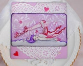 """Valentine Fairy Pinup Blank Greeting Card """"Heart Dance"""""""