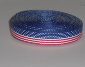 US Flag 3/8 inch Grosgrain Ribbon 10 yards