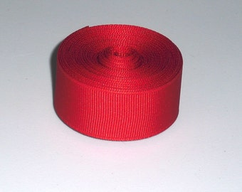 Red 7/8 inch Solid Grosgrain Ribbon 10 yards