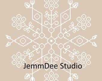 Snowflake Mandala - Cross Stitch Pattern - PDF - Instant Download