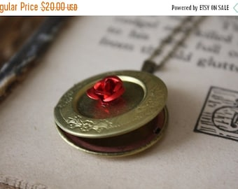 ON SALE Beauty and the Beast Locket Necklace