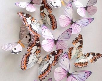 lavender NURSERY DECORATION - 3D lavender blush butterflies - wall art decoration - lavender butterfly - purple butterflies - Uniqdots