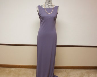 Vintage Laundry by Shelli Segal Mauve Purple Backless Maxi Bodycon Dress Size 10