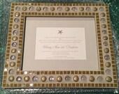 Mosaic frame / wedding invitation