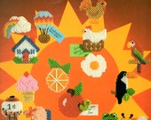 Quick Easy Magnet Refrigerator Hot Air Balloon House Ice Cream Plastic Canvas Needlepoint Embroidery Patterns Craft Leaflet 226 Leisure Arts