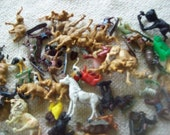 Lof of 60 Plastic Wild and Farm Animal Collection