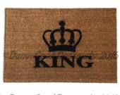 The King crown royal novelty doormat