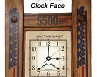 CUSTOMIZE your own Ski Clock made in Vermont and handcrafted out of Recycled Skis makes a ski gift for skiers