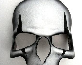 ON SALE Harlequin Skull Leather Mask