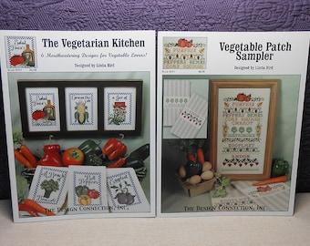 Destash - Stitch Your Veggies Cross Stitch Pattern Books - Lot of Two - Free U.S. Shipping