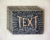 Boxed Note Card Set - Vintage Text Message