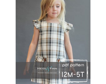 NEW  Dorset dress PDF sewing pattern and tutorial 12m-5t  tunic dress jumper  easy sew