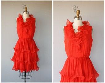 1960s Cocktail Dress | Vintage 60s Dress | 1960s Dress | 60s Party Dress | 1960s Red Party Dress | 60s Miss Elliette Dress | Chiffon Dress