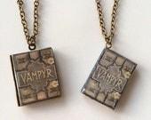 Handmade Mini Book Locket Necklace/Earrings/Pin