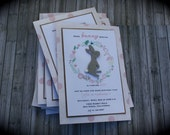 Some BUNNY Special Shabby Chic Invitation for any occasion
