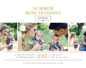 INSTANT DOWNLOAD! Summer Mini Session Template - Photographer Marketing - Social Media Template - m0295 - Design By Bittersweet