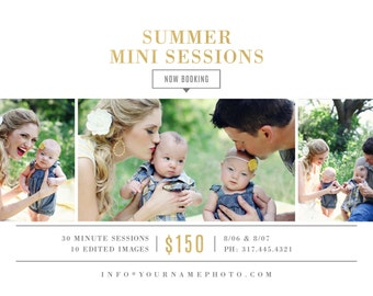 INSTANT DOWNLOAD! Summer Mini Session Template - Photographer Marketing - Social Media Template