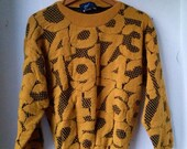 Vintage 1980's Graphic Numbers Sweater