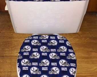 Flowery Flannel Toilet Seat Cover And Tank Lid By