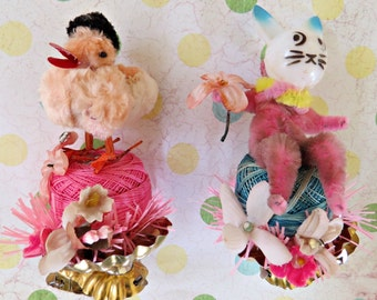 Set of 2 Easter Clip Ornaments