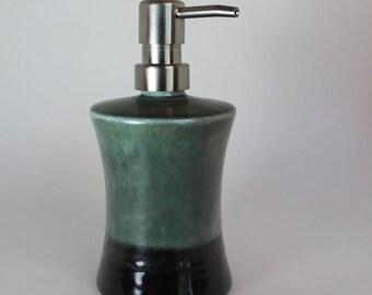ceramic liquid soap dispenser - gray