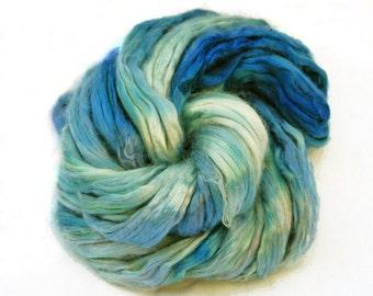 Mulberry Bombyx Silk Sliver Twilight Blue - 32 grams